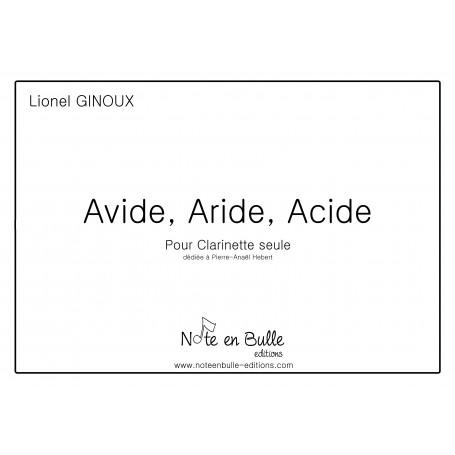 Lionel Ginoux Avide, Aride, Acide - pdf