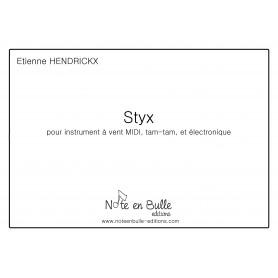 Etienne Hendrickx Styx pour instrument MIDI - Version PDF