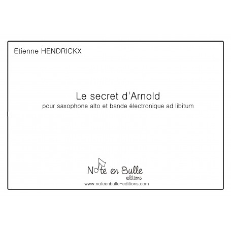 Etienne Hendrickx Le secret d'Arnold - Version PDF