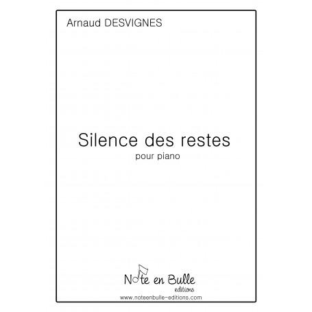 Arnaud Desvignes Silence des restes - pdf