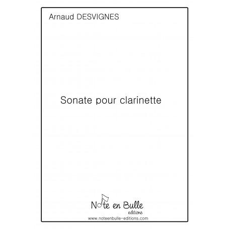 Arnaud Desvignes Sonate pour clarinette - pdf