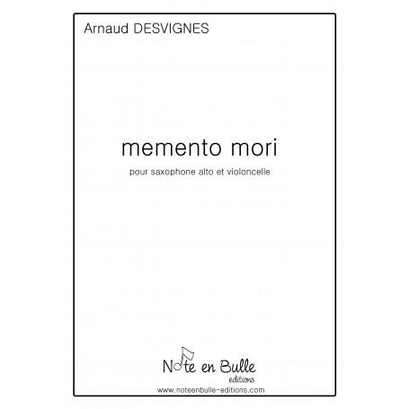 Arnaud Desvignes Memento Mori - printed version