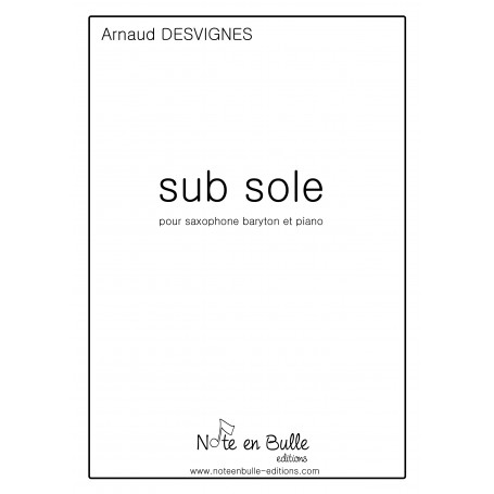 Arnaud Desvignes Sub Sole - Version PDF