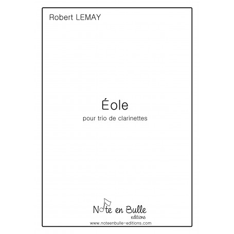 Robert Lemay Eole (for clarinet) - pdf