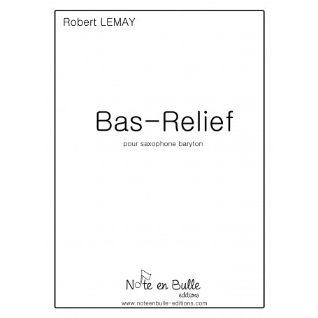 Robert Lemay Bas Relief - pdf