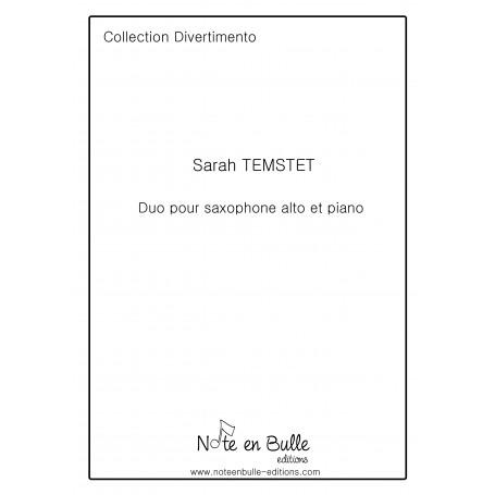 Sarah Temstet Duo pour saxophone alto et piano - Version Papier