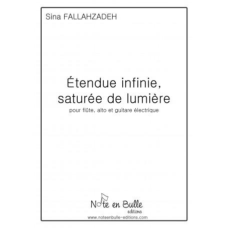 Sina Fallahzadeh - Etendue infinie, saturée de lumière - version papier