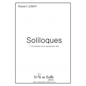 Robert Lemay Soliloques - version papier