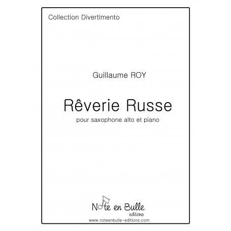 Guillaume Roy Rêverie Russe - Pdf