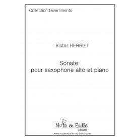 Victor Herbiet Sonate pour saxophone alto et piano -  Printed Version